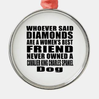 CAVALIER KING CHARLES SPANIEL DOG BEST FRIEND DESI METAL ORNAMENT