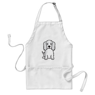 Cavalier King Charles Spaniel Dog Cartoon Adult Apron