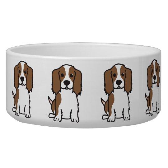 Cavalier King Charles Spaniel Dog Cartoon Bowl