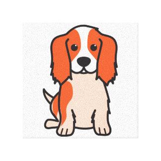 Cavalier King Charles Spaniel Dog Cartoon Gallery Wrapped Canvas