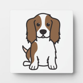 Cavalier King Charles Spaniel Dog Cartoon Display Plaques