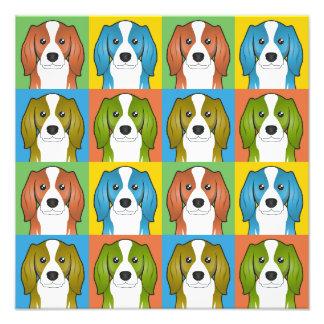 Cavalier King Charles Spaniel Dog Cartoon Pop-Art Photo