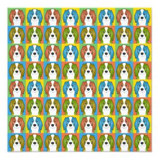 Cavalier King Charles Spaniel Dog Cartoon Pop-Art Photograph