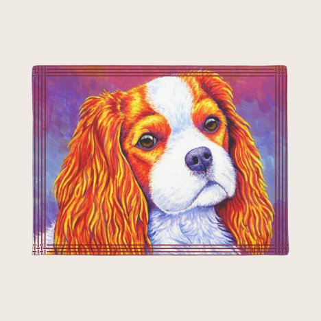 Cavalier King Charles Spaniel Dog Door Mat