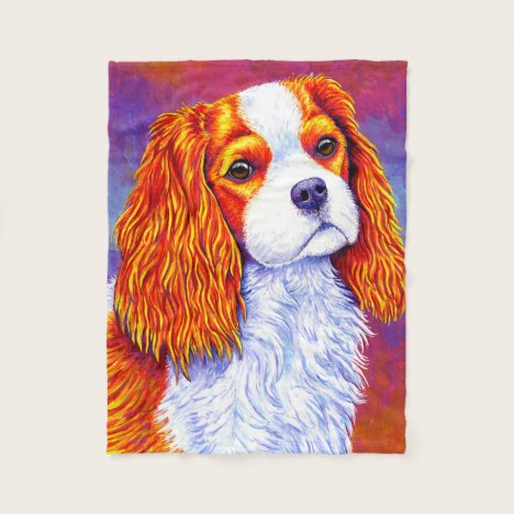 Cavalier King Charles Spaniel Dog Fleece Blanket