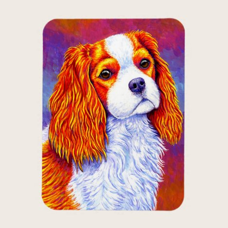 Cavalier King Charles Spaniel Dog Flexible Magnet