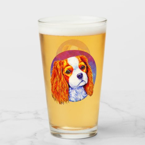 Cavalier King Charles Spaniel Dog Glass Cup