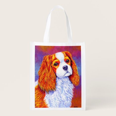 Cavalier King Charles Spaniel Dog Grocery Bag