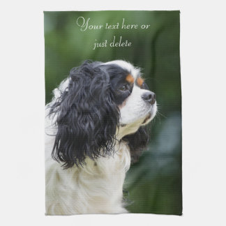 Cavalier King Charles Spaniel dog lovers custom Kitchen Towel