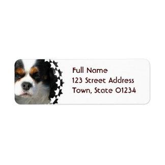 Cavalier King Charles Spaniel Dog Mailing Label Return Address Label