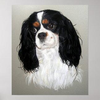 Cavalier King Charles Spaniel Dog Poster Print