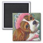 Cavalier King Charles Spaniel Dog Princess ART Refrigerator Magnets