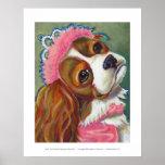 Cavalier King Charles Spaniel Dog Princess ART Poster