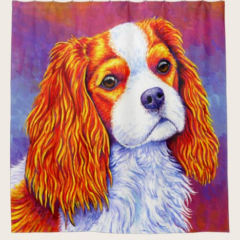 Cavalier King Charles Spaniel Dog Shower Curtain