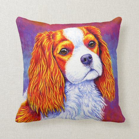 Cavalier King Charles Spaniel Dog Throw Pillow