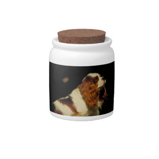 Cavalier King Charles Spaniel Dog Treat Candy Jar