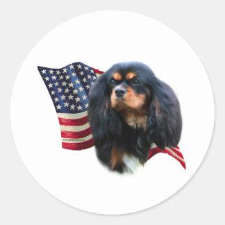 Cavalier King Charles Spaniel Flag - Sticker
