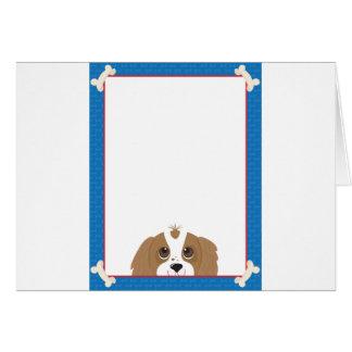 Cavalier King Charles Spaniel Frame Greeting Card