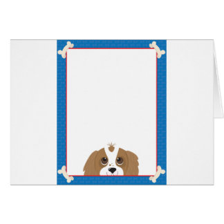 Cavalier King Charles Spaniel Frame Greeting Cards