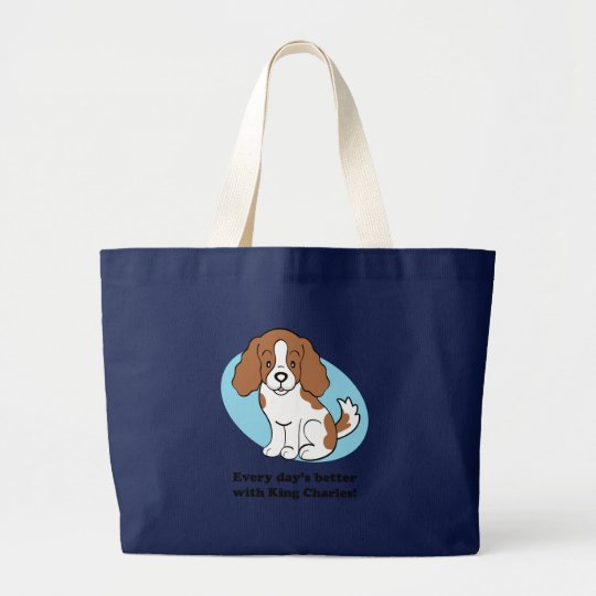 Cavalier King Charles Spaniel Gifts Large Tote Bag