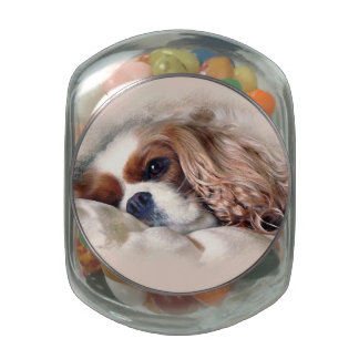 Cavalier King Charles Spaniel Glass Jar