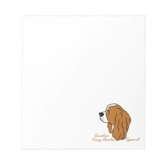 Cavalier King Charles Spaniel head silhouette Notepad