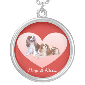 Cavalier King Charles Spaniel Heart  Necklace