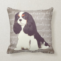 Cavalier King Charles Spaniel Illustration Pillow