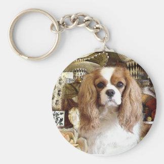 Cavalier King Charles Spaniel Basic Round Button Keychain