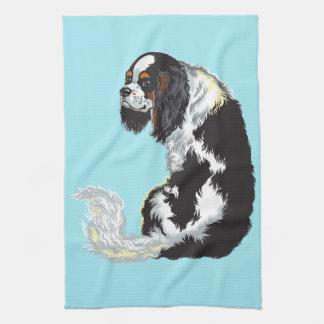 cavalier king charles spaniel towels