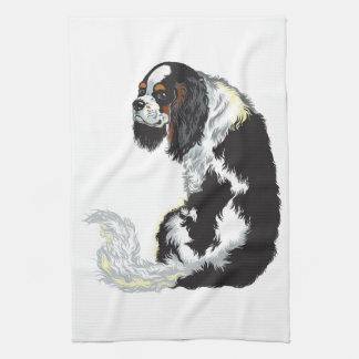 cavalier king charles spaniel towel