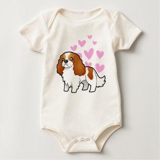 Cavalier King Charles Spaniel Love Baby Bodysuit