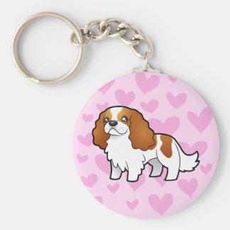 Cavalier King Charles Spaniel Love Basic Round Button Keychain