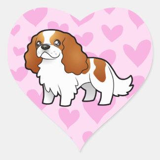 Cavalier King Charles Spaniel Love Heart Sticker