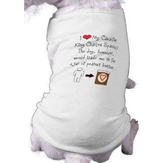 Cavalier King Charles Spaniel Loves Peanut Butter T-Shirt
