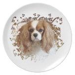 Cavalier King Charles Spaniel Melamine Plate