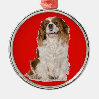 Cavalier King Charles Spaniel Metal Ornament