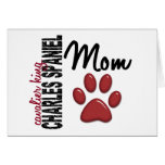 Cavalier King Charles Spaniel Mom 2 Greeting Card
