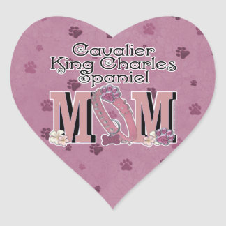 Cavalier King Charles Spaniel MOM Heart Sticker