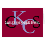 Cavalier King Charles Spaniel Monogram Design