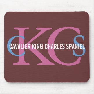 Cavalier King Charles Spaniel Monogram Design Mouse Pad