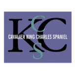 Cavalier King Charles Spaniel Monogram Design Postcard
