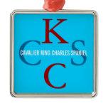 Cavalier King Charles Spaniel Monogram Metal Ornament