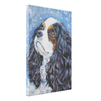 Cavalier King Charles Spaniel on Wrapped Canvas
