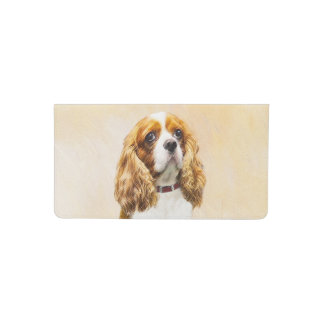 Cavalier King Charles Spaniel Original Painting Checkbook Cover