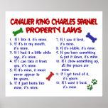 CAVALIER KING CHARLES SPANIEL PL2 POSTERS