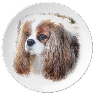 Cavalier King Charles Spaniel Porcelain Plate