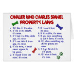 CAVALIER KING CHARLES SPANIEL Property Laws 2 Greeting Cards