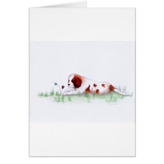 Cavalier King Charles Spaniel  puppy CKC Greeting Cards