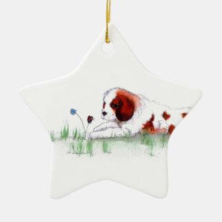 Cavalier King Charles Spaniel  puppy CKC Ceramic Ornament